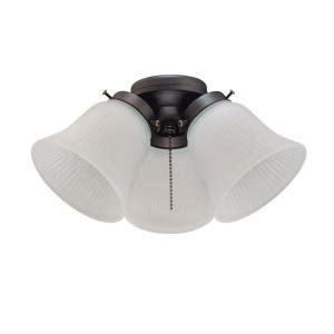 home depot ceiling fan light kits westinghouse 3 light rubbed bronze ceiling fan light