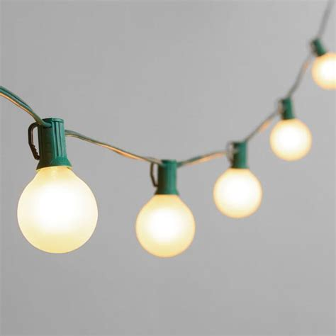 outdoor string bulb lights frosted bulb string lights world market