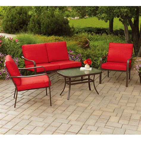 mainstays wicker 5 patio dining set seats 4 attractive 20 outdoor patio furniture sets ahfhome