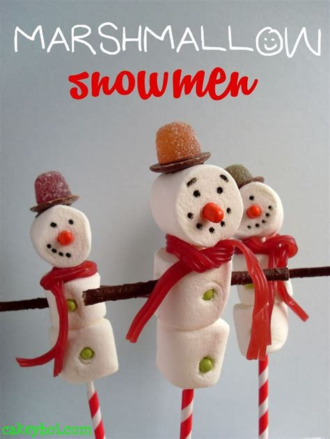 easy crafts for marshmallow snowmen 17 best images about kersthapjes voor school on