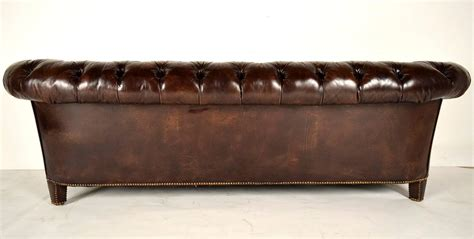 tufted leather chesterfield sofa vintage chesterfield leather tufted sofa at 1stdibs