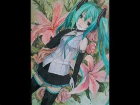acrylic painting anime vocaloid acrylic painting hatsune miku