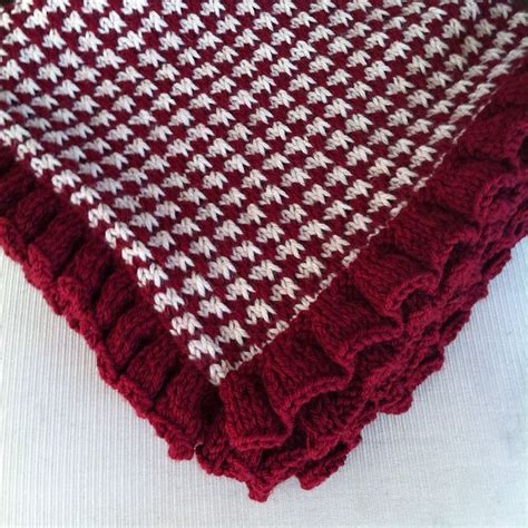 houndstooth knit pattern easy 17 best images about baby blankets on free