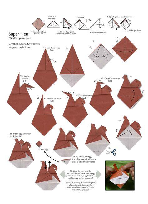 origami chicken origami egg laying hen aspiring folder