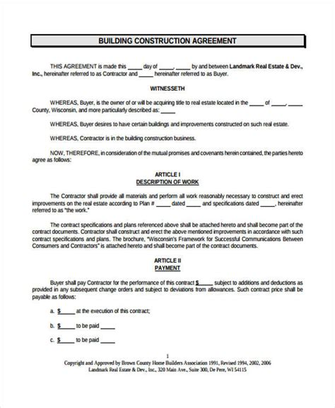 contract builder 29 free contract agreement forms