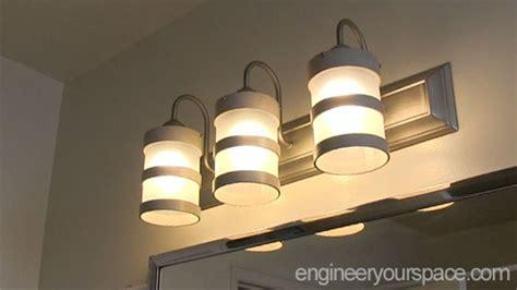 diy bathroom lighting diy bathroom lighting fixture makeover hometalk
