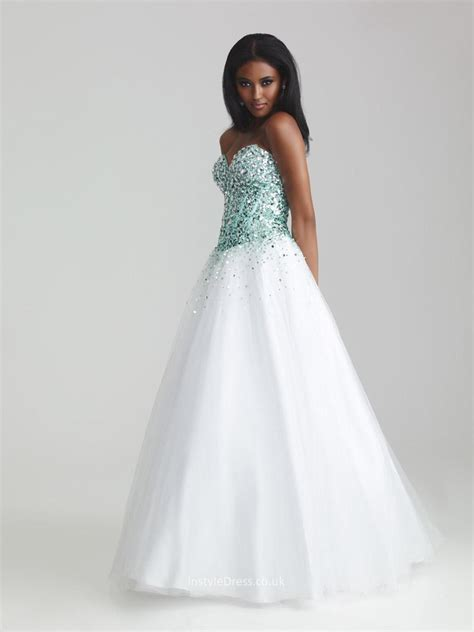 beaded two prom dress sparkling beaded sequin two tone sweetheart strapless