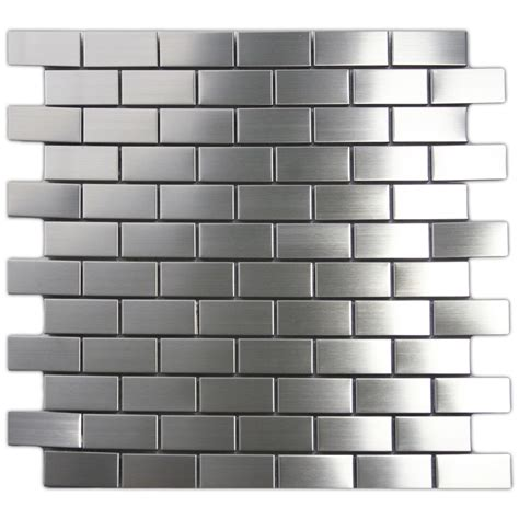 stainless tiles for backsplash stainless steel backsplash kitchen subway tile outlet