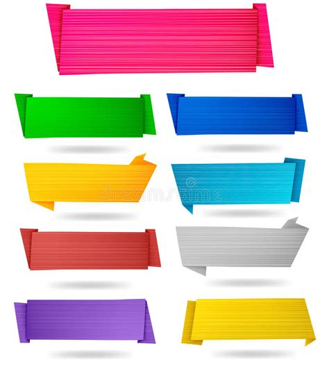 origami paper set set of origami paper banners vector royalty free stock