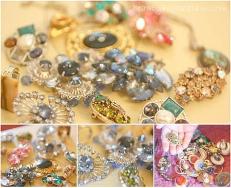 how to make costume jewelry at home diy ideas and crafts using vintage jewelry