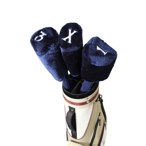 knit golf club headcovers pro source embroidered golf club neck fur knit