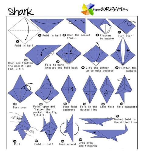 easy origami sea creatures paperorigami shark origami paper origami folding