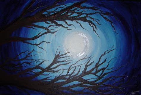 acrylic painting moon kirsten bailey 187 acrylic