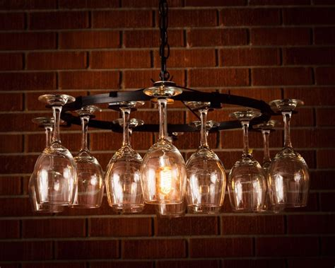 how to make a wine glass chandelier wine glass chandelier pendant style light lighting wine