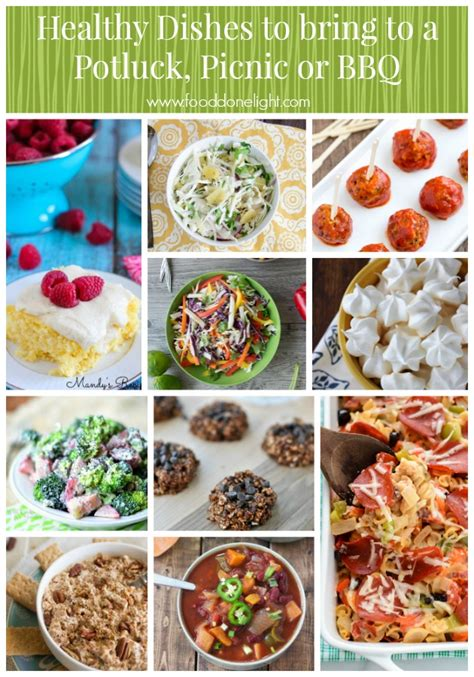 food to bring to healthy dishes to take to a potluck picnic or bbq food