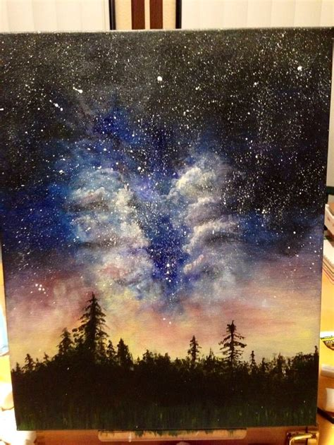 how to cover acrylic paint on canvas 1000 ideas about galaxy painting on