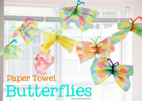 crafts with paper towel paper towel butterflies craft c skip to my lou