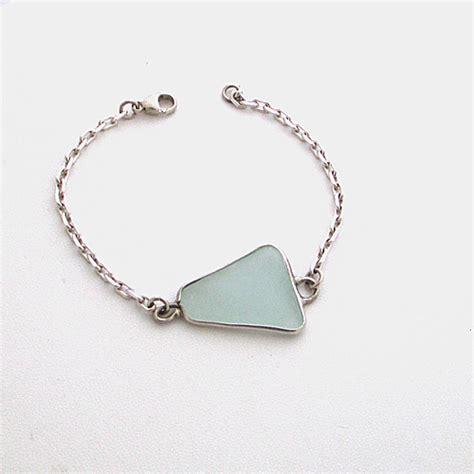 sea bracelet sky blue sea glass bracelet authentic sea glass