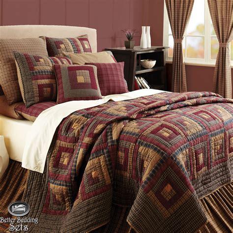 king quilt bedding sets rustic lodge log cabin cal king size quilt