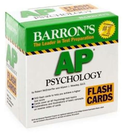 barron s ap psychology flash cards 3rd edition barron s ap psychology flash cards by allyson j weseley