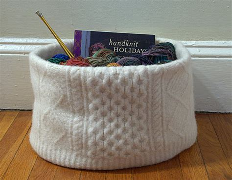 how to felt knitting by felted sweater knitting basket flickr photo