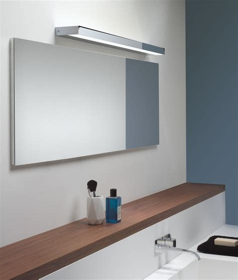 above mirror lighting bathrooms rectangular mirror light in matt nickel or polished