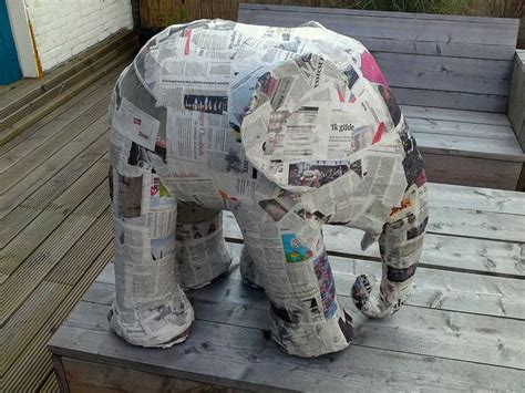 craft with paper mache how to build an elephant in 5 easy steps step 2