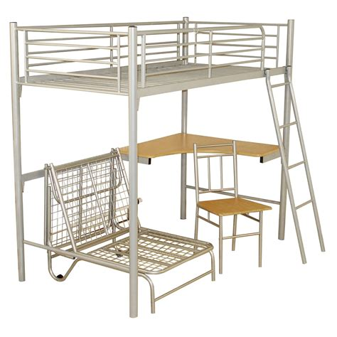 bunk bed frame with futon study bunk bed frame with futon chair up to 60 rrp