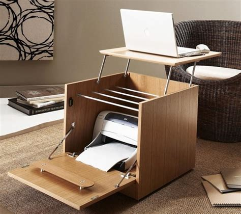 small home office desk creative portable home office desk with printer storage