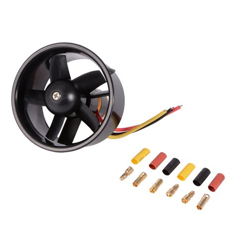 Brushless Electric Motor by 64mm Ducted Fan 5 Blade With Electric Motor Qf2611 4500kv