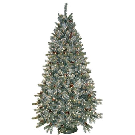 7 ft frosted tree general foam 7 5 ft pre lit siberian frosted pine