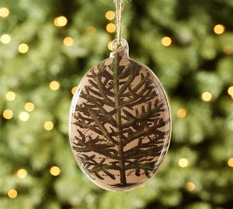 decoupage glass ornaments decoupage tree glass ornament pottery barn