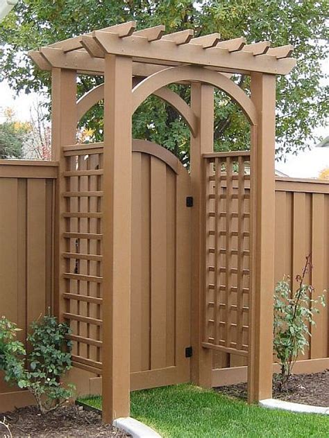 Garden Arbor With Gate Kit 25 Best Ideas About Wood Fence Gates On Fence