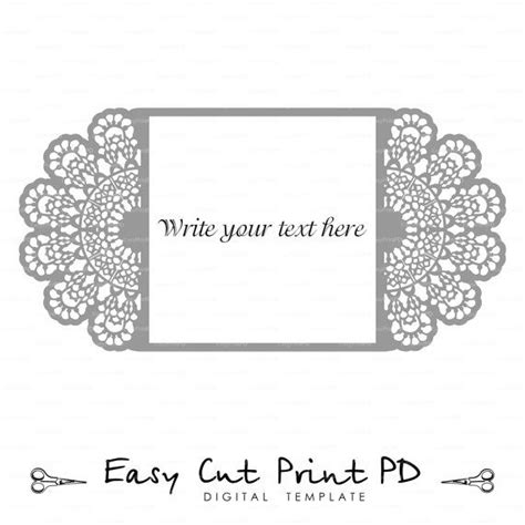 lace templates card wedding invitation lace crochet doily pattern card