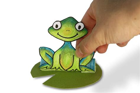 paper frog craft jumping paper frog family crafts