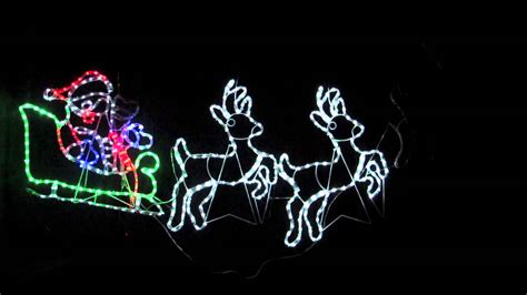 silhouette lights rope light silhouettes led santa sleigh reindeers 2