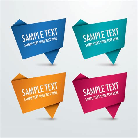 origami signs 40 free vector background graphics vector graphics