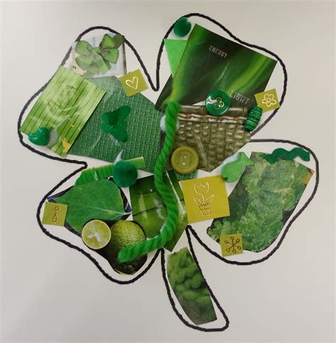 green crafts for choices for children green shamrock collage