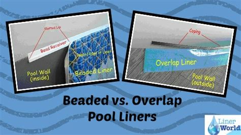 beaded pool liner replacement beaded vs overlap above ground swimming pool liners