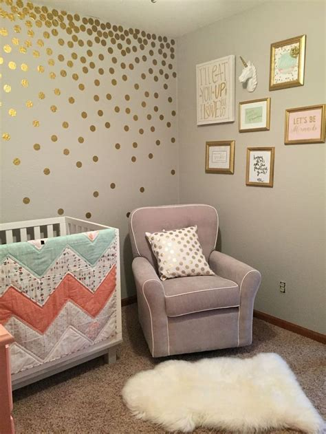 gold nursery decor best 25 coral baby rooms ideas on