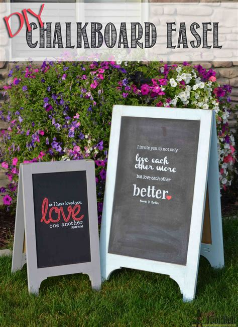 diy chalkboard frame wedding a frame chalkboard easel small tool belt