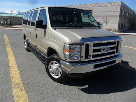 how cars run 2001 ford econoline e350 electronic toll collection find used 2012 ford e350 12 passenger van tan running boards 26k miles factory warranty in reno