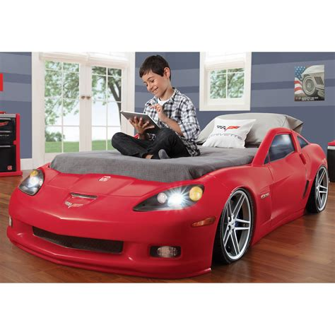 corvette toddler to bed step2 corvette toddler to bed with lights bj s