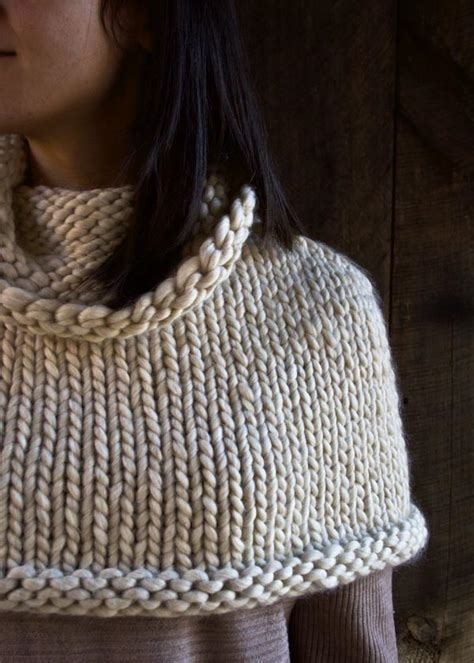 capelet knitting patterns mountain capelet purl soho create