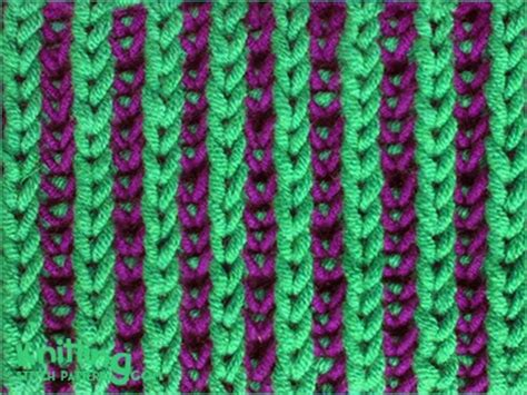 how to knit 2 colors together two color brioche stitch knitting stitch patterns