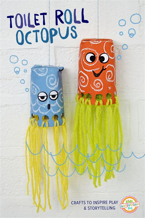 octopus crafts for toilet roll octopus craft has been published on
