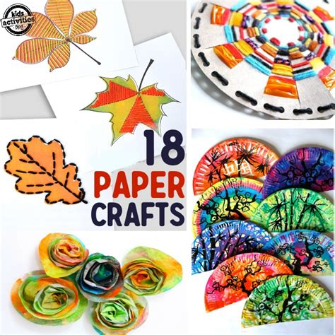 paper crafts projects 18 paper crafts for
