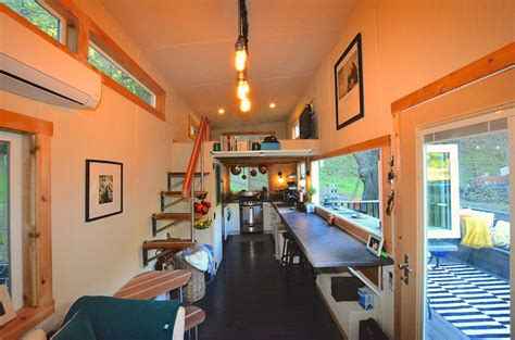 tiny homes interiors tiny house on wheels with indoor outdoor entertaining