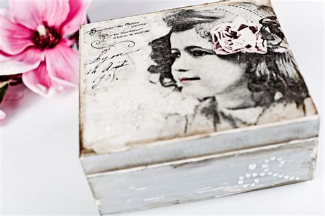 decoupage photo decoupage tutorial box with pearls