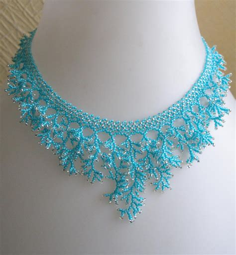jewelry patterns to make jewelry pattern for a seed beaded necklace detailed on